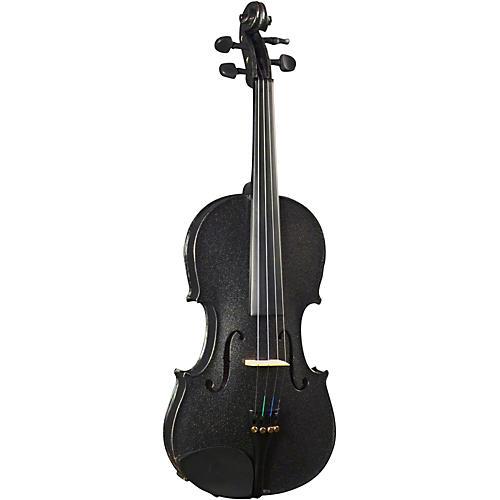 Cremona SV-130BK Series Sparkling Black Violin Outfit-thumbnail