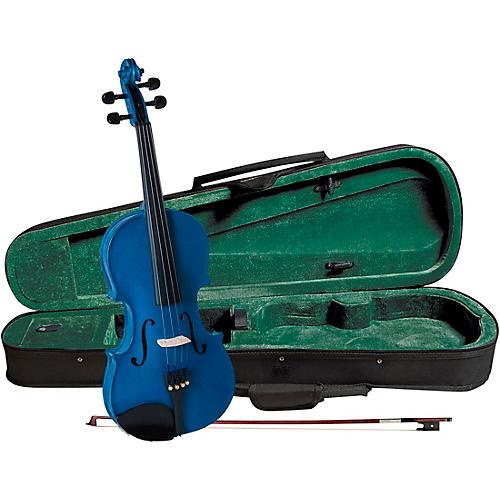 Cremona SV-75BU Premier Novice Series Sparkling Blue Violin Outfit-thumbnail