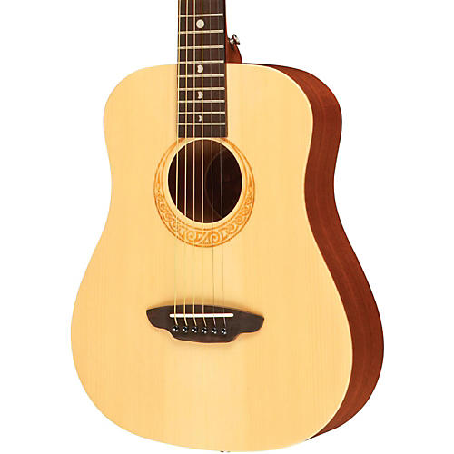 Luna Guitars Safari Muse Spruce 3/4 Size Travel Acoustic Guitar Package-thumbnail