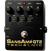 Tech 21 SansAmp GT2 Tube Amp Emulator