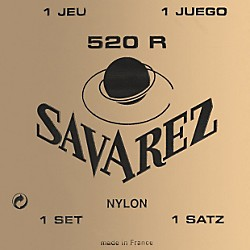 Savarez 520R Traditional Red Card Strong Tension Classical Guitar Strings (STSAV52-50065)
