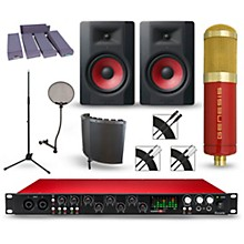 Focusrite Scarlett 18i20 Recording Package with MXL Genesis and M-Audio Limited Edition BX8 Pair