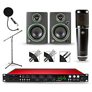 Focusrite Scarlett 18i20 Recording Package with Sterling ST51 and Mackie CR3 Pair