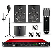 Focusrite Scarlett 18i20 recording Package with Sterling ST59 and M-Audio BX5 Pair