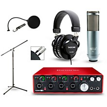 Focusrite Scarlett 18i8 Recording Package with R80 Ribbon Microphone and TH-200X Headphones