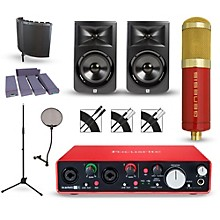 Focusrite Scarlett 2i4 Recording Package with MXL Genesis and JBL LSR308 Pair