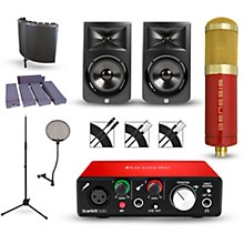 Focusrite Scarlett Solo Recording Package with MXL Genesis and JBL LSR308 Pair