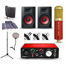Focusrite Scarlett Solo Recording Package with MXL Genesis and M-Audio Limited Edition BX8 Pair