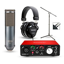 Focusrite Scarlett Solo Recording Package with R80 Ribbon Microphone and TH-200X Headphones