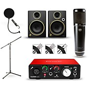 Focusrite Scarlett Solo Recording Package with Sterling ST51 and Mackie Limited Edition CR3 Pair