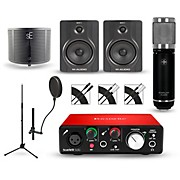 Focusrite Scarlett Solo Recording Package with Sterling ST59 and M-Audio BX5 Pair