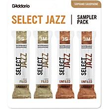 D'Addario Woodwinds Select Jazz Soprano Saxophone Reed Sampler Pack