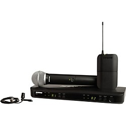 Shure BLX1288 Combo System With CVL Lavalier microphone and PG58 handheld microphone (BLX1288/CVL-J10)