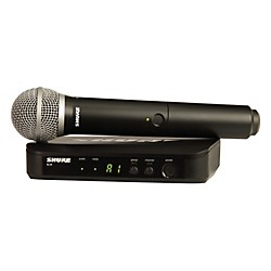Shure BLX24/PG58 Handheld Wireless System with PG58 Capsule (BLX24/PG58=-H8)