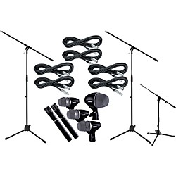 Shure Drum Mic Package with Cable and Boom Stands (DRUMMICPKCBS)