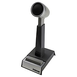 Shure Omnidirectional dynamic, high or low Z, push-to-talk, desktop microphone (450SERIESII)