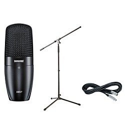 Shure PG27 Condenser Mic with Cable and Stand (PG27Pack)