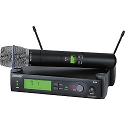 Shure SLX24/BETA87A Handheld Wireless Condenser Microphone System (SLX24/BETA87A-H5)