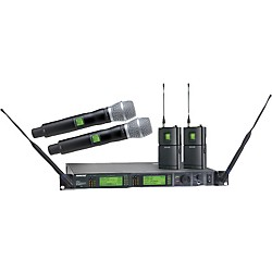 Shure UR124D/SM86 Dual Bodypack and Handheld Wireless Microphone System (UR124D/SM86-L3)