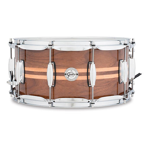 Gretsch Drums Silver Series Walnut Snare Drum with Maple Inlay-thumbnail