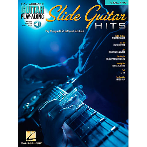 Hal Leonard Slide Guitar Hits - Guitar Play-Along Volume 110 Book/CD-thumbnail