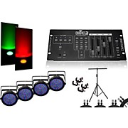 CHAUVET DJ SlimPar 64 DMX4MF 4 Light System
