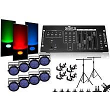 CHAUVET DJ SlimPar 64 DMX4MF 8 Light System
