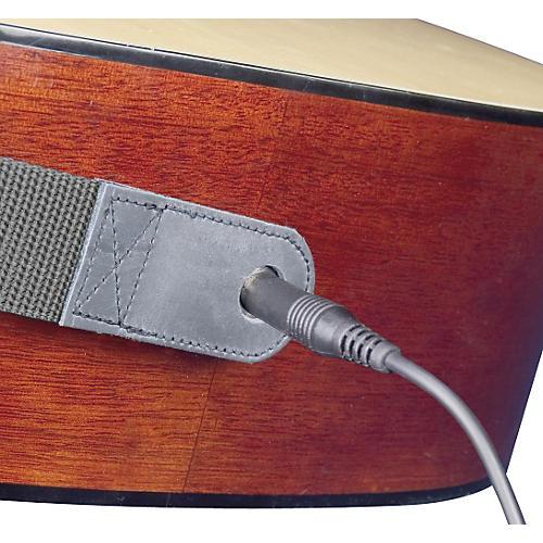 Neotech Slimline Acoustic Guitar Strap - End Pin Jack Version Long Black