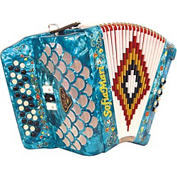 SofiaMari Elite Accordion (SME-3412-EAD Blu Prl)