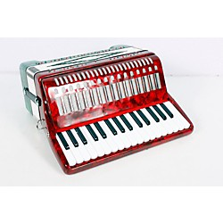 SofiaMari SM-3232 32-Key 32-Bass Piano Accordion (USED005016 SM 3232 RED &)