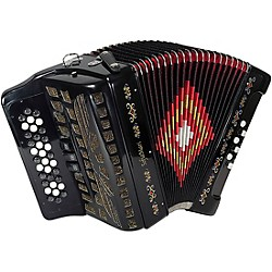 SofiaMari SM-3412 Button 12 Bass Accordion (SM-3412 BLACK)
