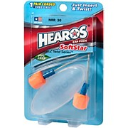 Hearos SoftStar EZ Twist - 1 Pair Corded With Case