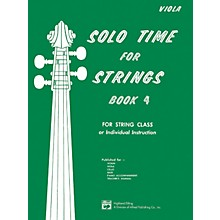 Alfred Solo Time for Strings Book 4 Viola