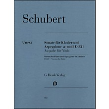 G. Henle Verlag Sonata for Piano and Arpeggione A minor D 821 (Op. Posth.) By Schubert