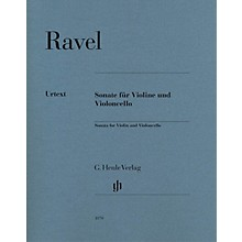 G. Henle Verlag Sonata for Violin and Violoncello Henle Music Folios Series Softcover Composed by Maurice Ravel
