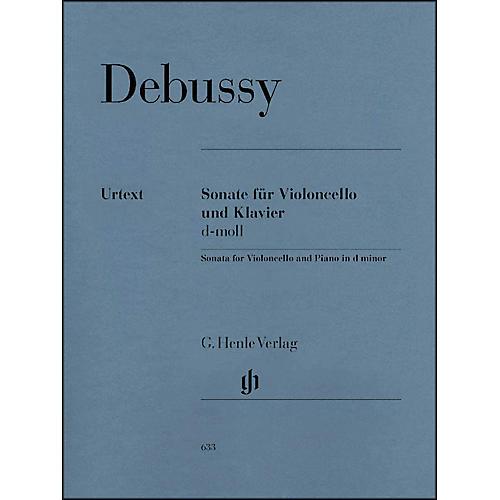 G. Henle Verlag Sonata for Violoncello And Piano In D Minor By Debussy
