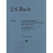 G. Henle Verlag Sonatas for Viola da Gamba and Harpsichord BWV 1027-1029 (Viola Solo) Henle Music Folios Series Softcover