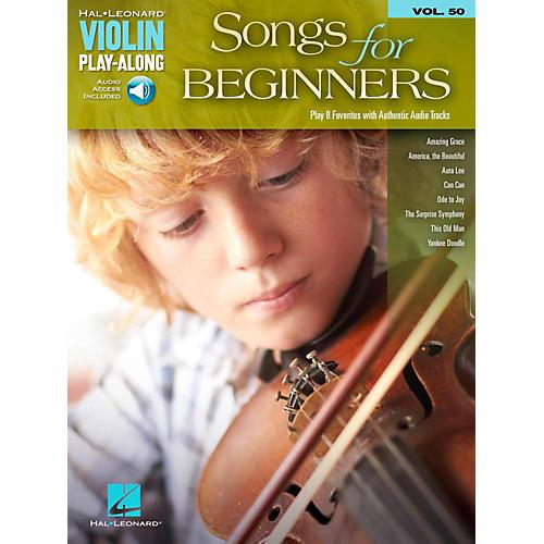 Hal Leonard Songs For Beginners Violin Play-Along Volume 50 Book/Audio Online-thumbnail