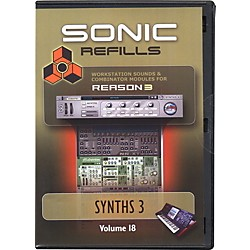 Sonic Reality Reason 3 Refills Vol. 18: Synths 3 (SR-RR18-HCD-IN)