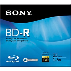 Sony 25GB Recordable Single Layer Blue-ray Disc (BNR25RH)