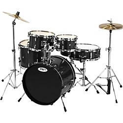 Sound Percussion 5-Piece Junior Drum Set with Cymbals (SP5JR-BK)