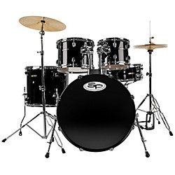 Sound Percussion Complete 5-Piece Drum Set with Cymbals & Hardware (SP5A1NBK-KIT)