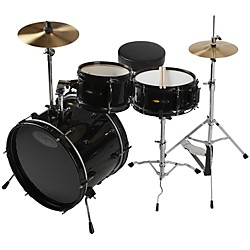 Sound Percussion Deluxe Jr. 3-Piece Drum Set (SPJR300BK)