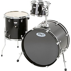 Sound Percussion Pro 3-Piece Double Bass Add-On Pack (Chrome Hoops and Lugs) (SP3PC-BK)