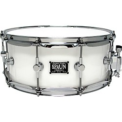 Spaun LED Acrylic Snare Drum (LED614SC-WH)