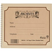 Archives Spiral Bound Manuscript Paper