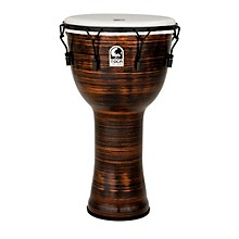 Toca Spun Copper Mechanically Tuned Djembe with Bag
