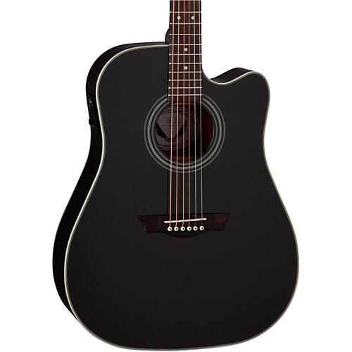 Dean St. Augustine Dread Cutaway Acoustic-Electric Guitar Classic Black