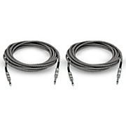 Musician's Gear Standard Instrument Cable Tweed-20 ft.-Black and Silver (2 Pack)
