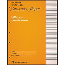 """Hal Leonard Standard Manuscript Paper (8 1/2"""" x 11"""")"""